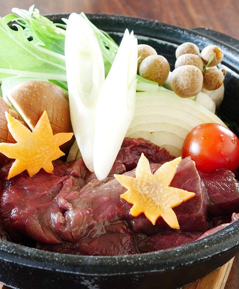 【12月】道産えぞ鹿のすき焼き