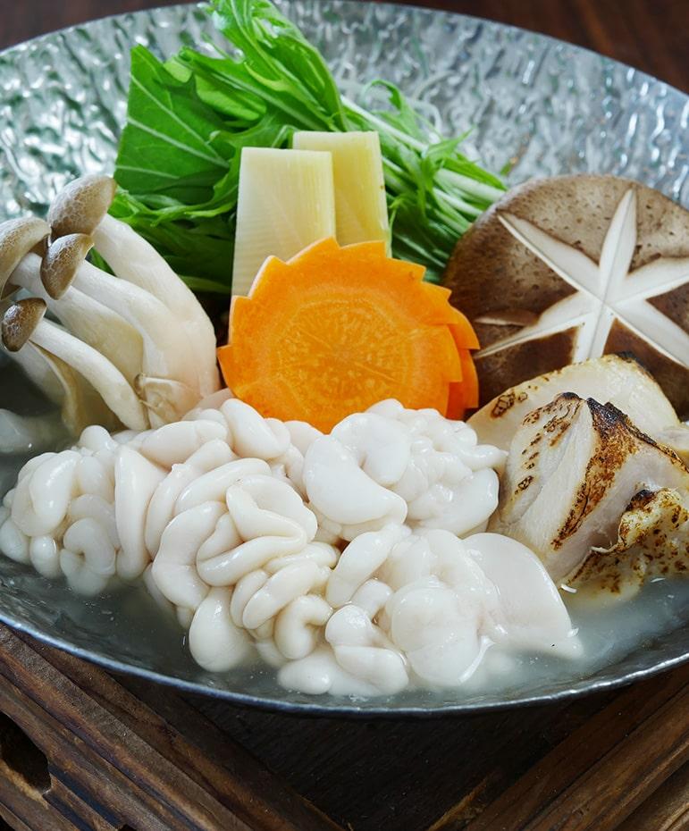 【2月】鱈白子と知床鶏の水炊き風