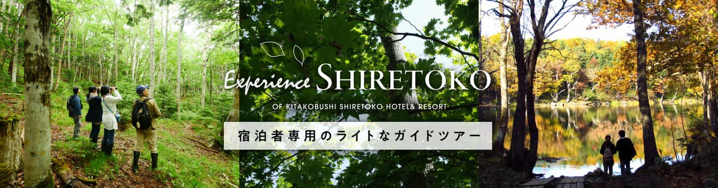 Experience SHIRETOKO OF KITAKOBUSHI SHIRETOKO HOTEL & RESORT 宿泊者専用のライトなライトなガイドツアー